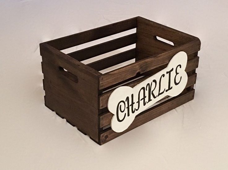 Personalized Dog Toy Box , Wooden Dog Crate , Dog Toy Storage , Toy Box by HalleranDesignCo on Etsy https://www.etsy.com/listing/500158587/personalized-dog-toy-box-wooden-dog