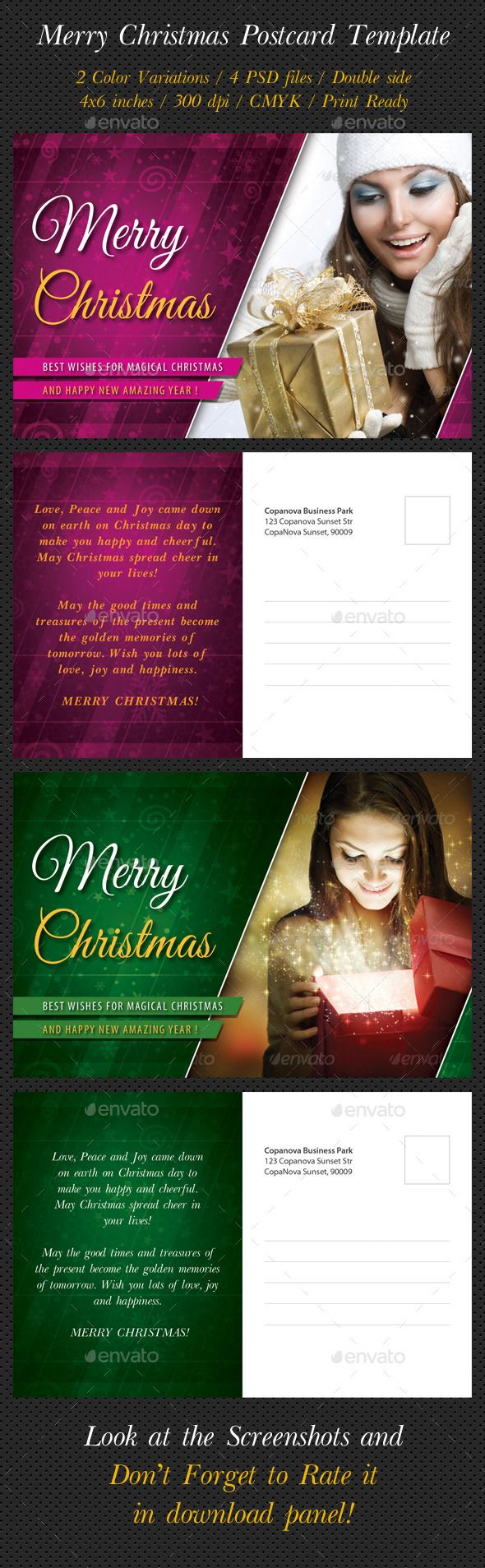 17 best ideas about postcard template post card merry christmas postcard template photoshop psd postcard holidays available here →