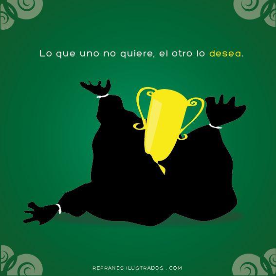 Lo que uno no quiere, el otro lo desea.| http://tmblr.co/ZtwVgn1XahEHo | #español #spanish #espanhol #spanisch #espagnol #espanol