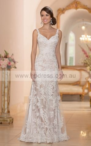 A-line V-neck Empire Sleeveless Floor-length Wedding Dresses wes0107
