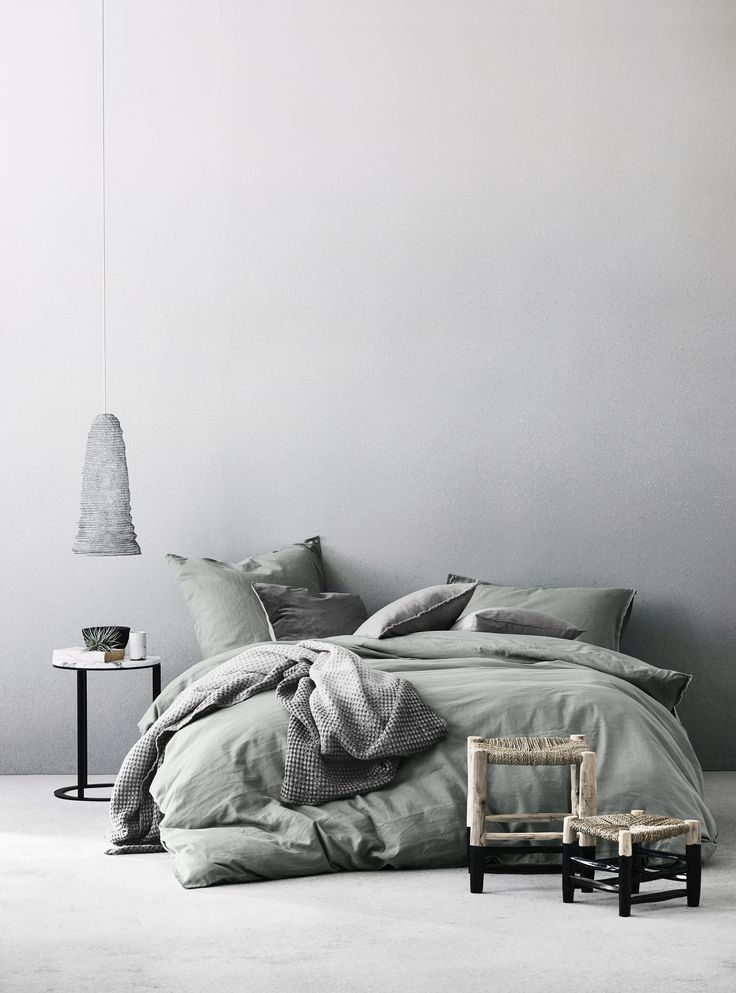 Sweet Home Sweet Dreams Sage Stripe Duvet Cover
