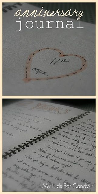 Anniversary Journal: Write in your journal each year on your anniversary about what you did and how the past year has been for you! (i wanna start this now, it would be great to read when we are old!) Such a wonderful idea