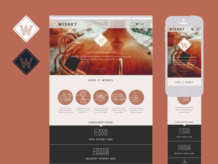 Branding, packaging & website design for a Whisky Subscription business