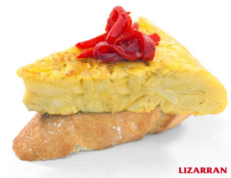 Tortilla con pimiento #Lizarran #Pinchos