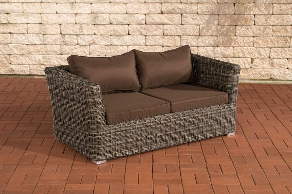2er Sofa Mandal Terrabraun Grau Meliert 2er Sofa Sofa Und Gartenmobel