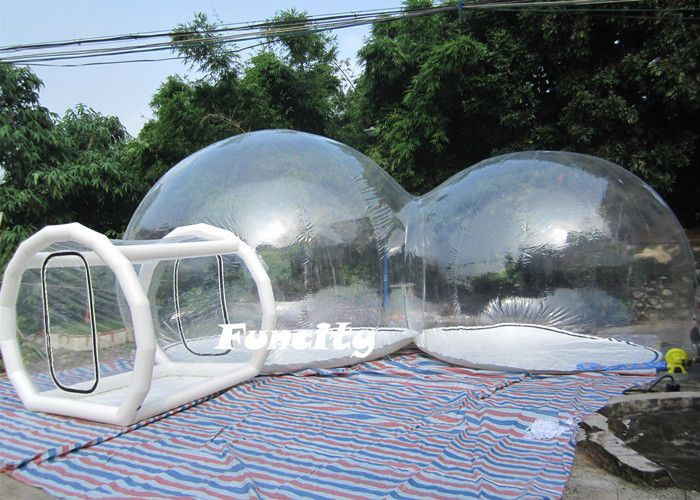 China Family Camping Inflatable Bubble Tent 3m 6m Clear