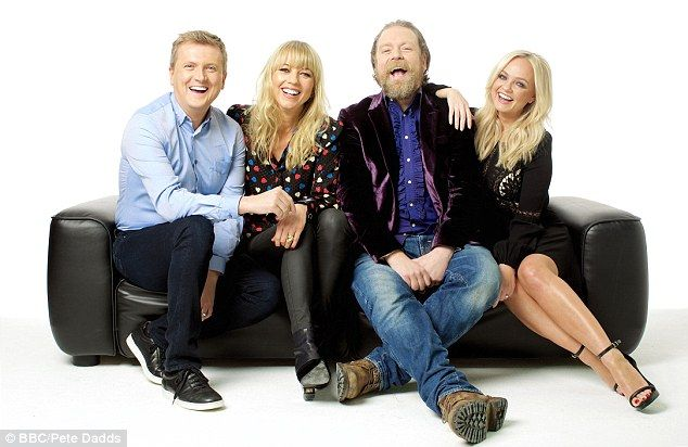 The show's presenters also include Aled Jones, radio DJ Sara Cox and comedian Rufus Hound...