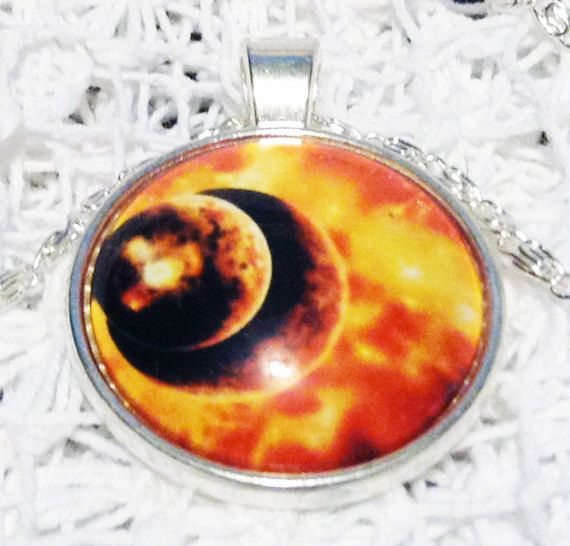 GALACTIC SUPER VOLCANO Nebula Pendant Fire Galaxy by CarolinaMeme #StrangeKarmaPerfume #CarolinaMeme