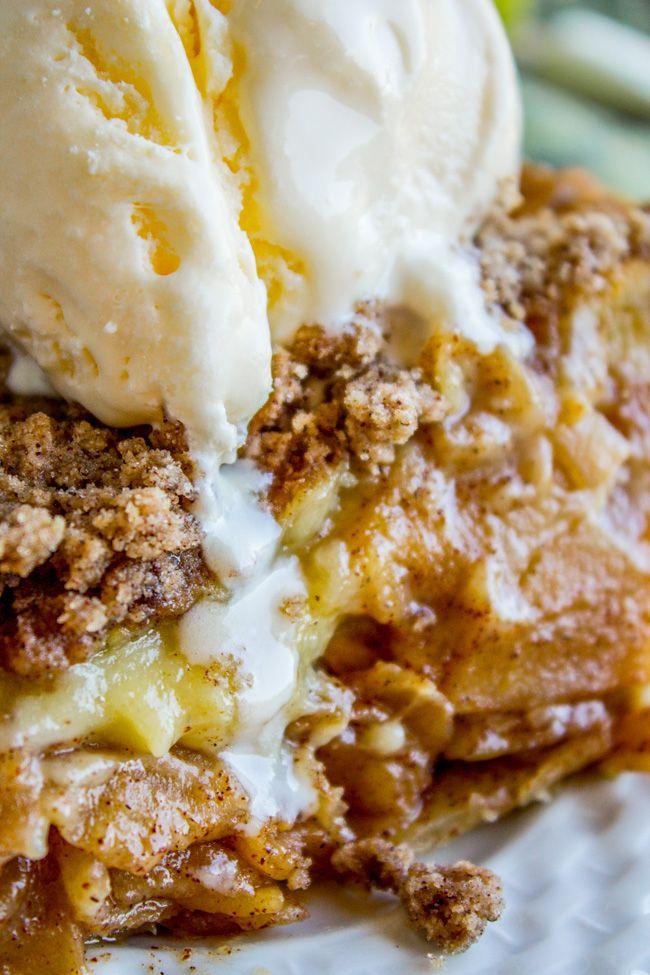 Apple Custard Pie with Cinnamon Streusel from The Food Charlatan