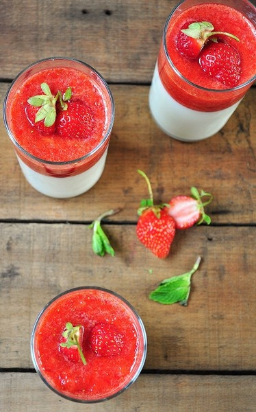 panna cotta with strawberry rhubarb compote panna cotta perfect panna ...
