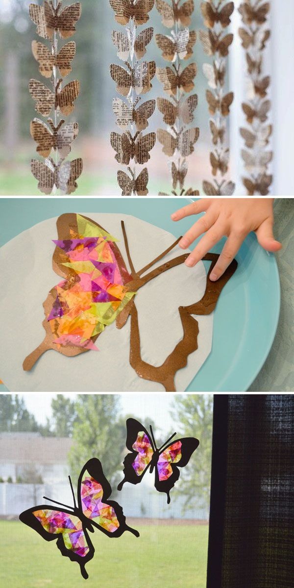 Hanging Paper Butterflies Decorations Diy Butterfly Decorations Window Decor Diy Butterfly Decorations