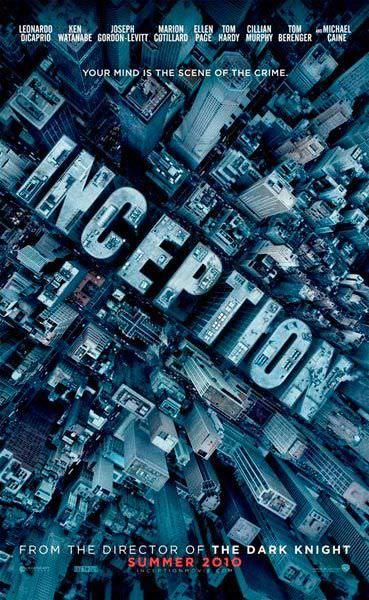 Cartaz filme A Origem (Inception). Fotografia aérea de Nova York por Cássio Vasconcellos