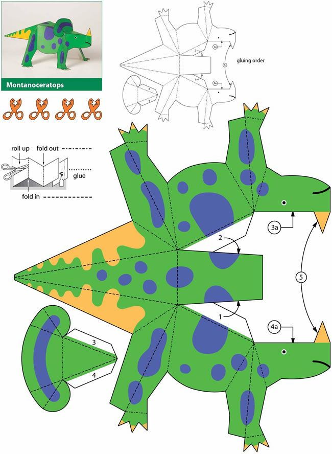 dinosaur kiragami for kids #free #printable #kids #diy #craft