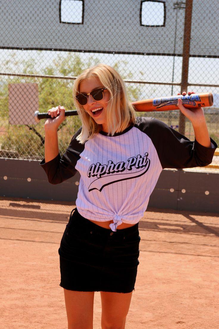 Hit a Home-run with TSL Bid Day tees! #alphaphi #bidday #baseball #themes #ideas #recruitment