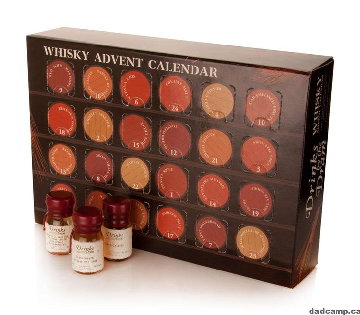 Whiskey advent calendar making Xmas bright