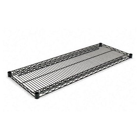Alera Industrial Wire Shelving Extra Wire Shelves, 48 inchW x 18 inchD, 2 Shelves Per Carton, Available in Silver or Black