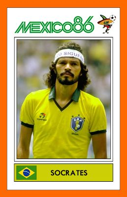 Dr. #Socrates with Brazil, Mexico '86.