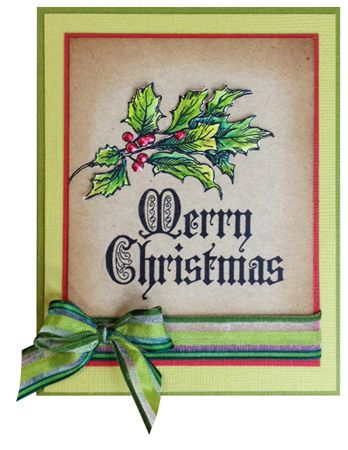 Stamp-it Australia: 4985E Holly Bunch, 5002D Traditional Christmas - Card by Susan
