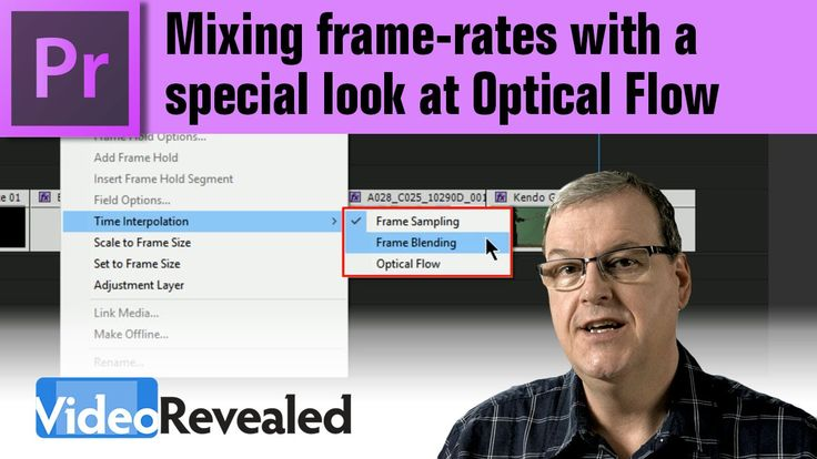 Mixing frame-rates with a special look at Optical Flow