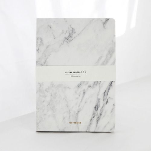 STONE NOTEBOOK - White marble by Dear Maison www.dearmaison.com