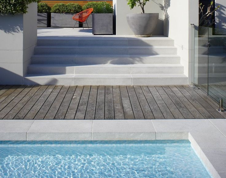 Secret Gardens Sydney Granite Range Vega Pavers Dropdown Pool Coping Steps (Granite Garden Step)