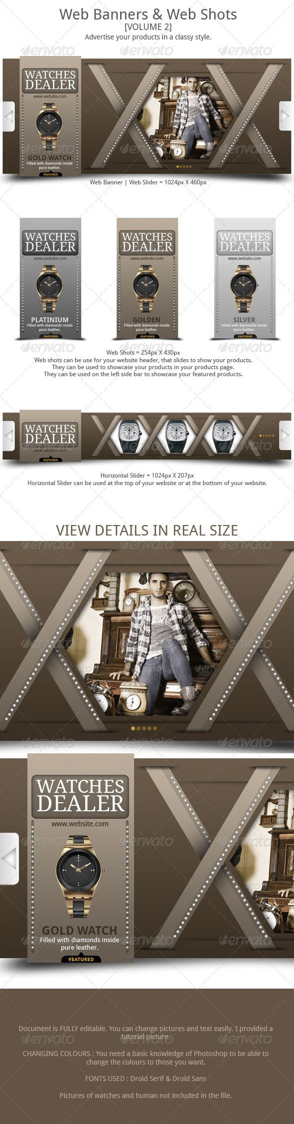 Design a banner for your website - Web Banner Template