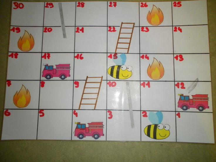 Ganzenbord in thema brandweer maar dit kan je in alle thema's spelen
