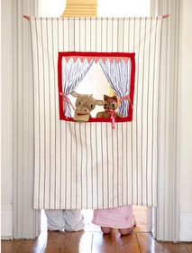 Doorway theater and tablecloth playhouse