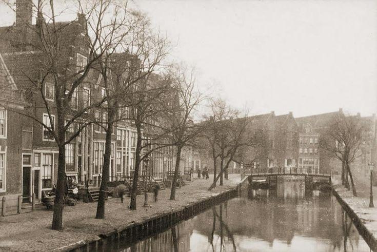 Amsterdam, 1895. Palmgracht voor de demping.
