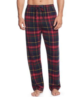 Crafted from ultra-soft cotton flannel, this comfortable pajama pant features a preppy plaid pattern and Ralph Lauren's signature embroidered pony. | Cotton | Machine washable | Imported | Polo Ralph