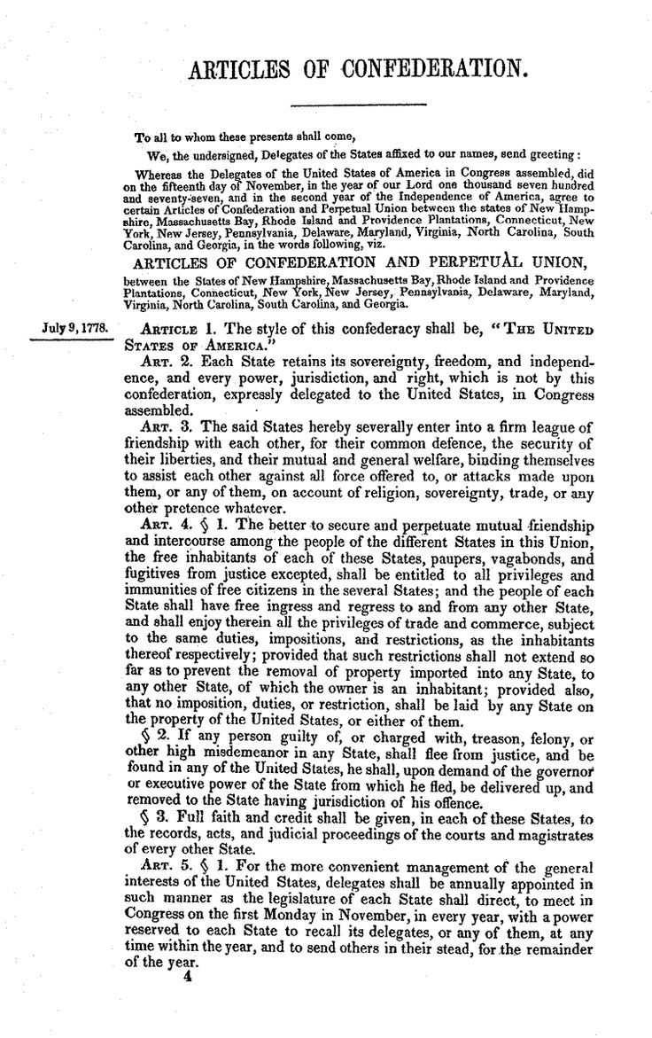 1781 1789 articles confederation provided united states ef Ap american government review concentration 1 constitutional underpinnings of united states government from 1781 to 1789 the articles of confederation provided the united states with an effective from 1781 to 1789 the articles of confederation provided the united states with an.