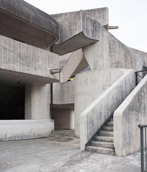 paolomottadelli: Pic by Paolo Mottadelli Chiesa di Santa Maria Immacolata, Longarone, Giovanni Michelucci, 1966-82