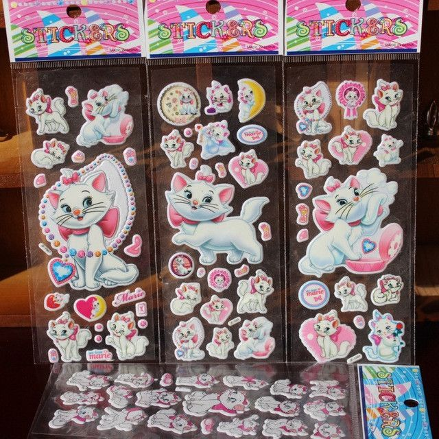 10 sheets/lot 3D carton bubble sticker of dog patrol puffy sticker for kids present, paws sticker, various cartoon stickers