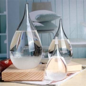 Tempo Storm Glass Drop Weather Forecast Water Drops Shape Crystal Weather Forecast Crystalloid Decor at Banggood