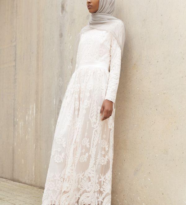 Ashlyn Lace Gown In Pink - £89.90 : Inayah, Islamic Clothing & Fashion, Abayas, Jilbabs, Hijabs, Jalabiyas & Hijab Pins