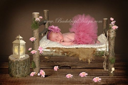 rustic newborn bed props - Google Search