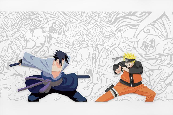 Naruto Uzumaki and Sasuke Uchiha in papercut!
