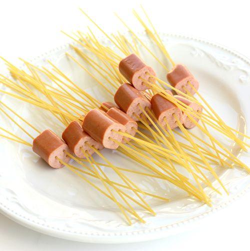Spaghetti In Hot Dog