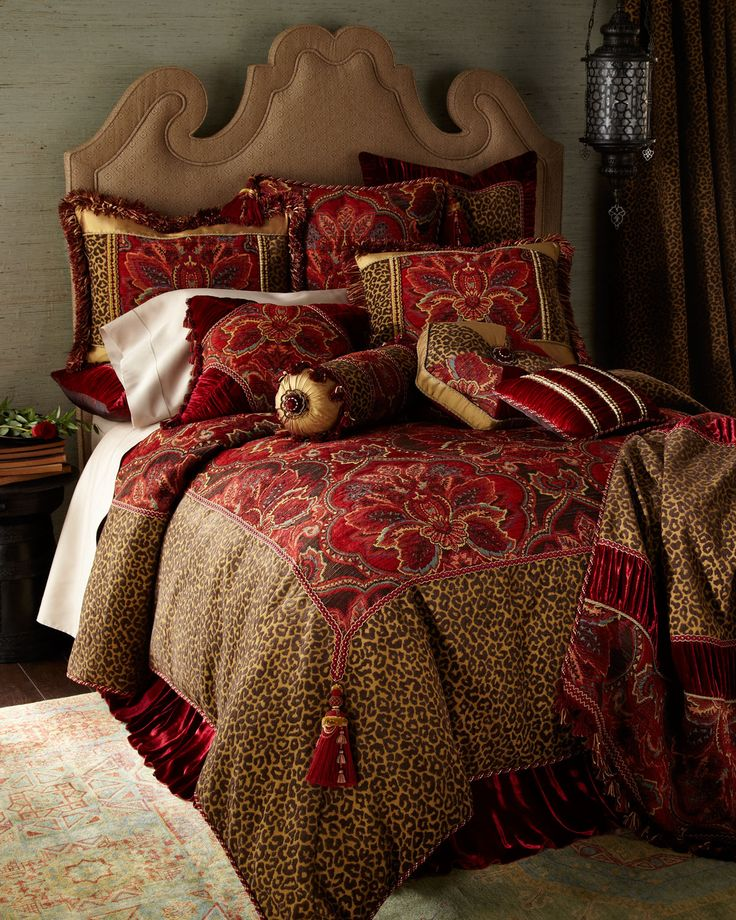 """Pillows - solid floral Dian Austin Couture Home """"Bohemian Rhapsody"""" Bed Linens - Horchow"""