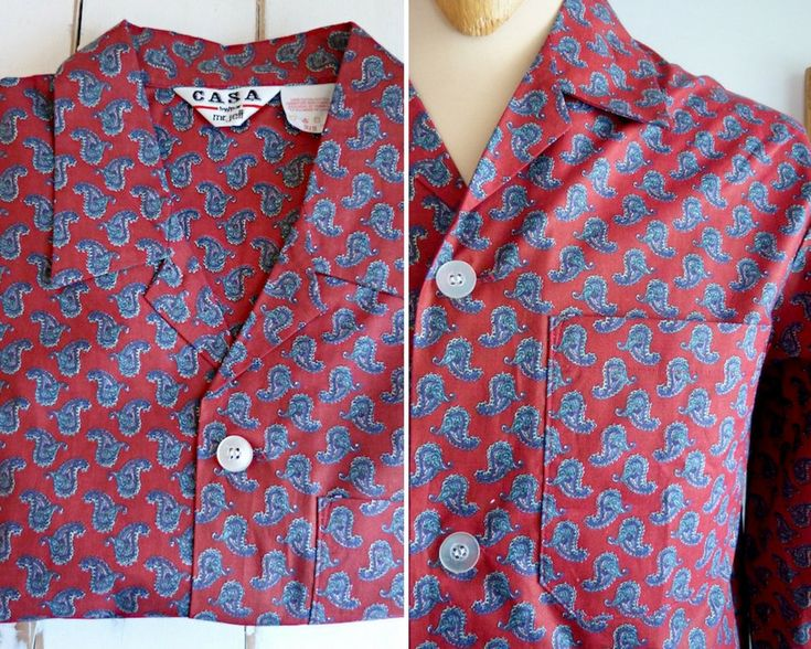 Pyjama pour homme en coton, motif cachemire, comme neuf de la boutique BoutiqueLaFouineuse sur Etsy