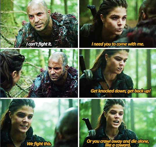 Moments like this make you realize how much Octavia has changed I mean remember that innocent girl enjoying freedom for the first time