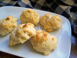 Homemade Baking Powder Biscuits...quick & easy recipe for tender, flaky biscuits.
