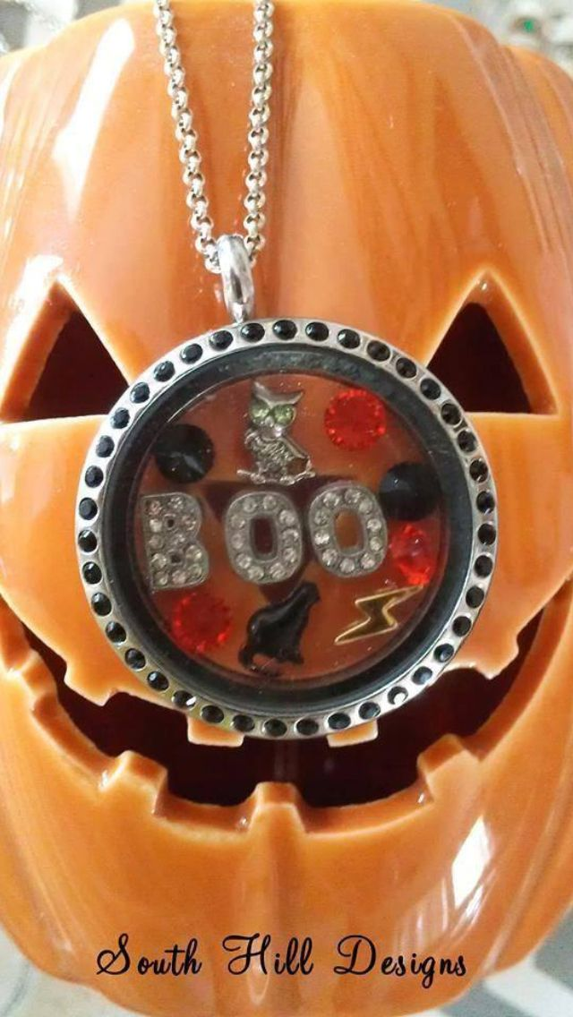 """South hill designs - Halloween Please LIKE my page on Facebook for other locket ideas, as well as special promotions. https://www.facebook.com/bellaslocketjewelry. Create your own """"STORY"""" today..."""