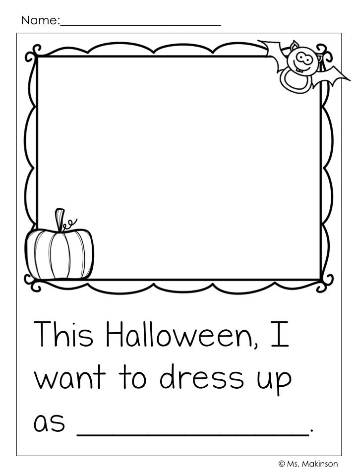 Halloween writing activities for preschool