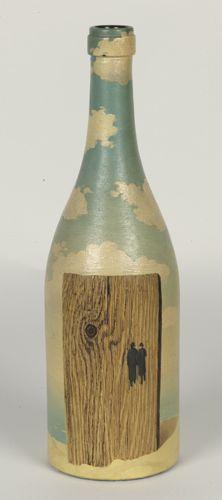 René Magritte : Beschilderde fles (twee mannen in gesprek)