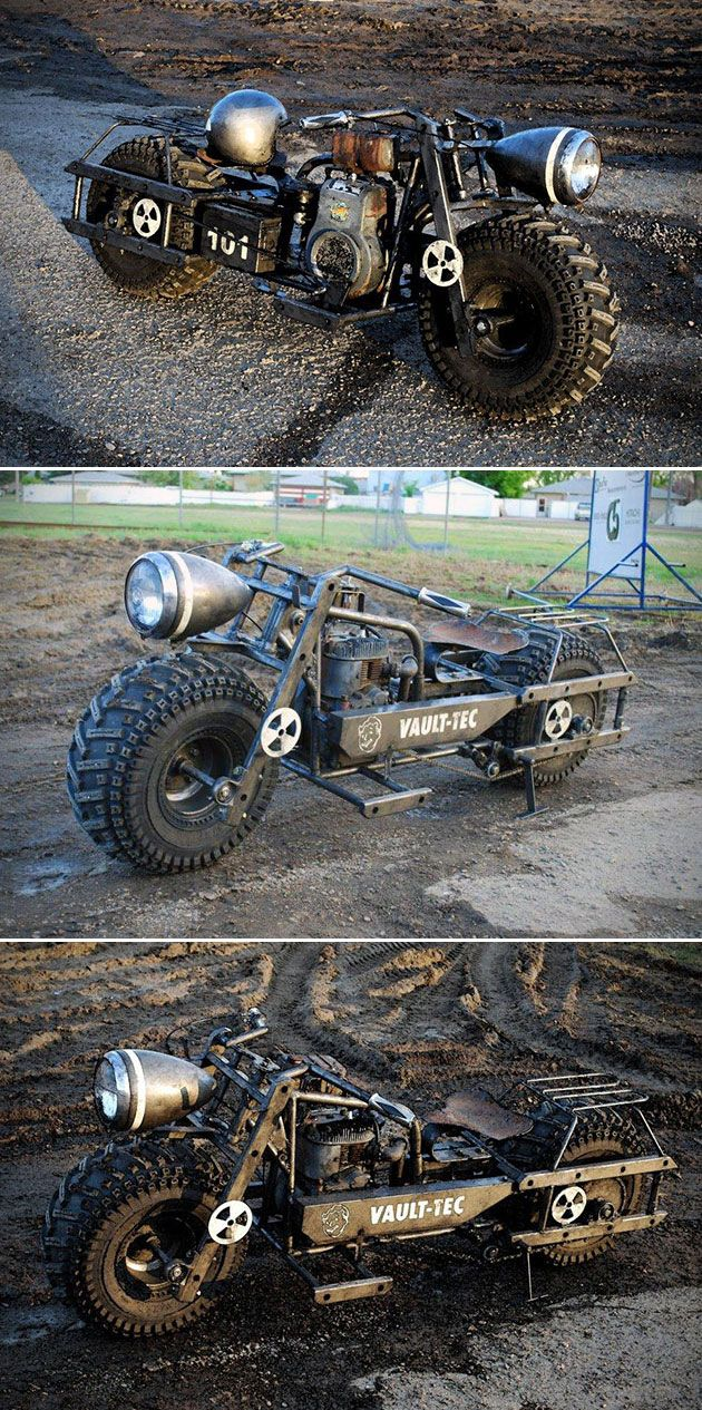 High school student built this Fallout 3 motorcycle. *Jaw Drops*