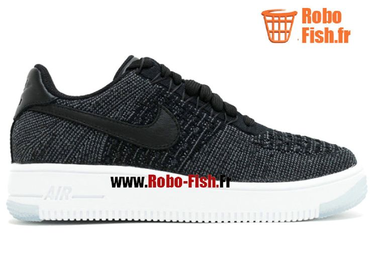 Af1 Flynit Low - Chaussure Nike Running Pas Cher Pour Homme Noir/Blanc 820256-001