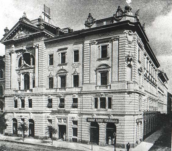 A Podmaniczky utcai nagypáholyház egykoron / The Grand Lodge house in Podmaniczky street in former times.