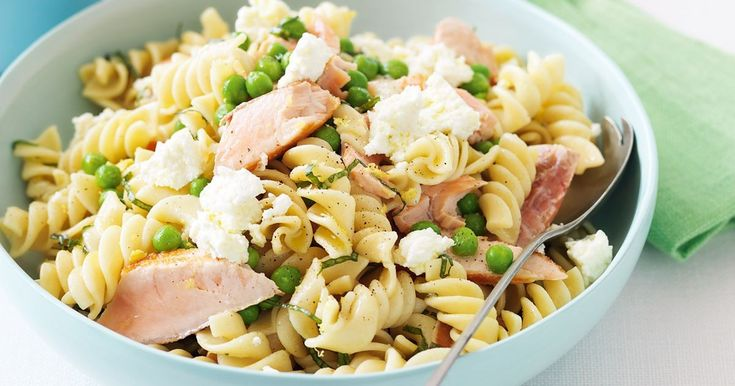 Salmon and ricotta pasta