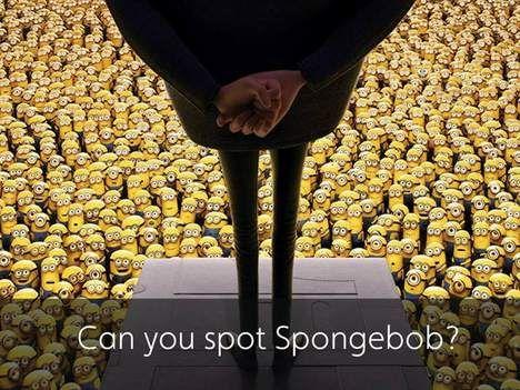 Kan jij spongebob vinden tussen de minions
